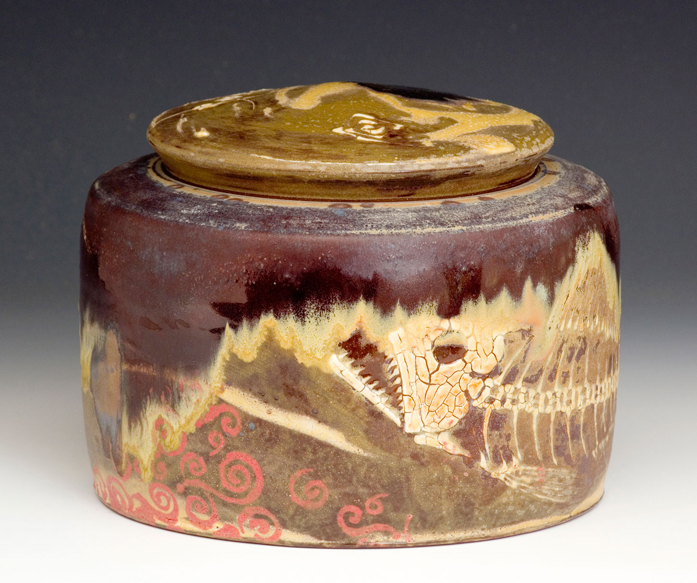 Ceramic-Art-Fossil-Fish-Covered-Jar-Bruce-Gholson.jpg
