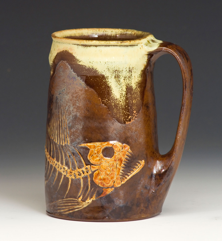 Fossil-Fish-Handmade-Stein-Bruce-Gholson-Bulldog-Pottery.jpg