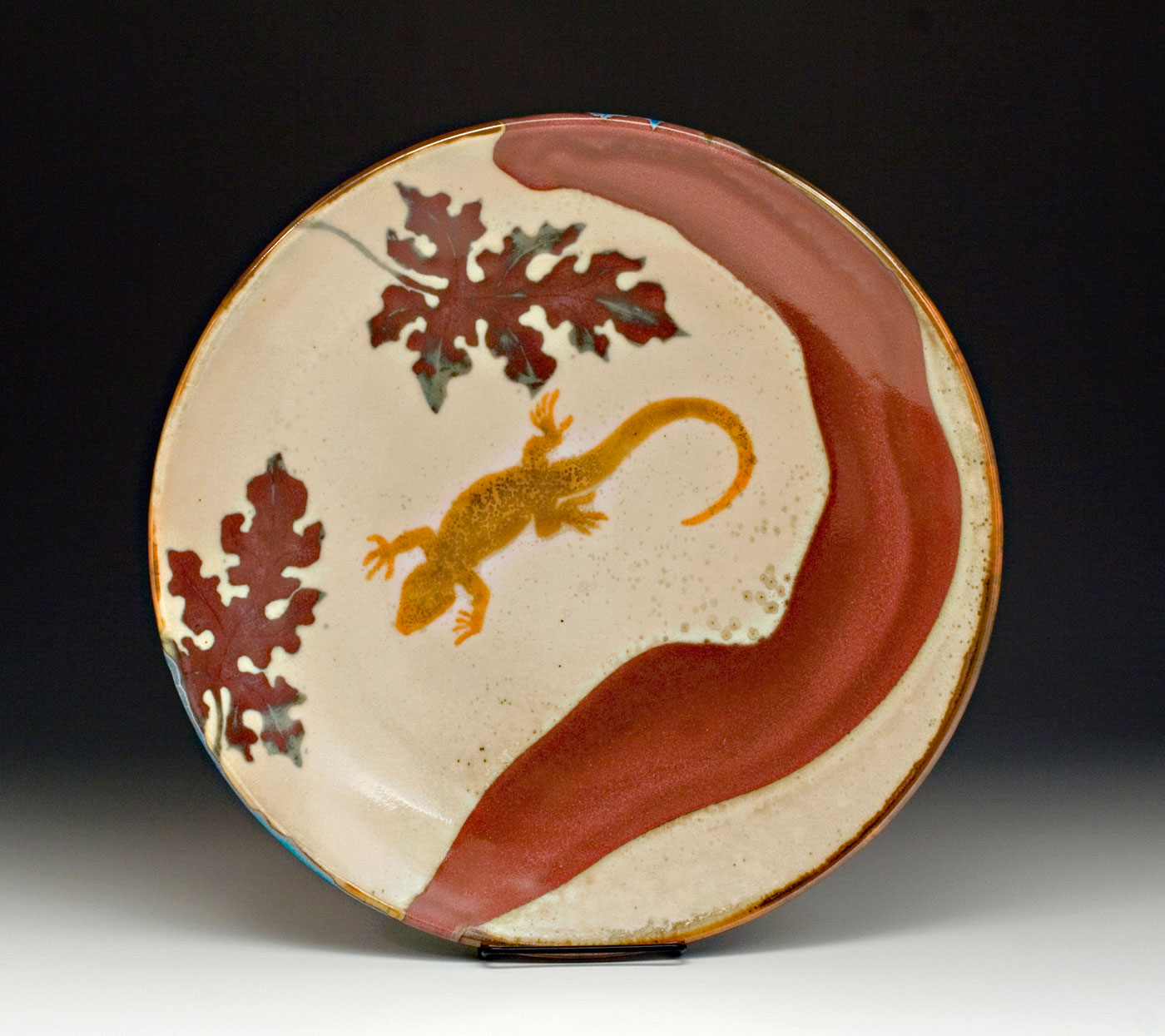 Salamander-and-Oak-Leaf-Shino-Platter-Bruce-Gholson.jpg