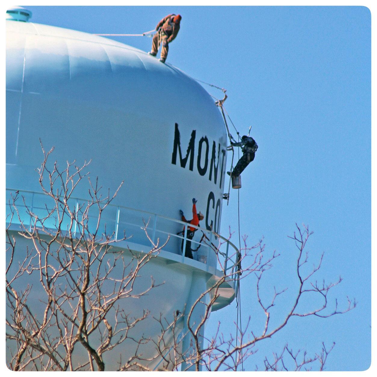Montgomery County North Carolina Water Tower- Landmark at entrance to Bulldog Pottery, Seagrove North Carolina