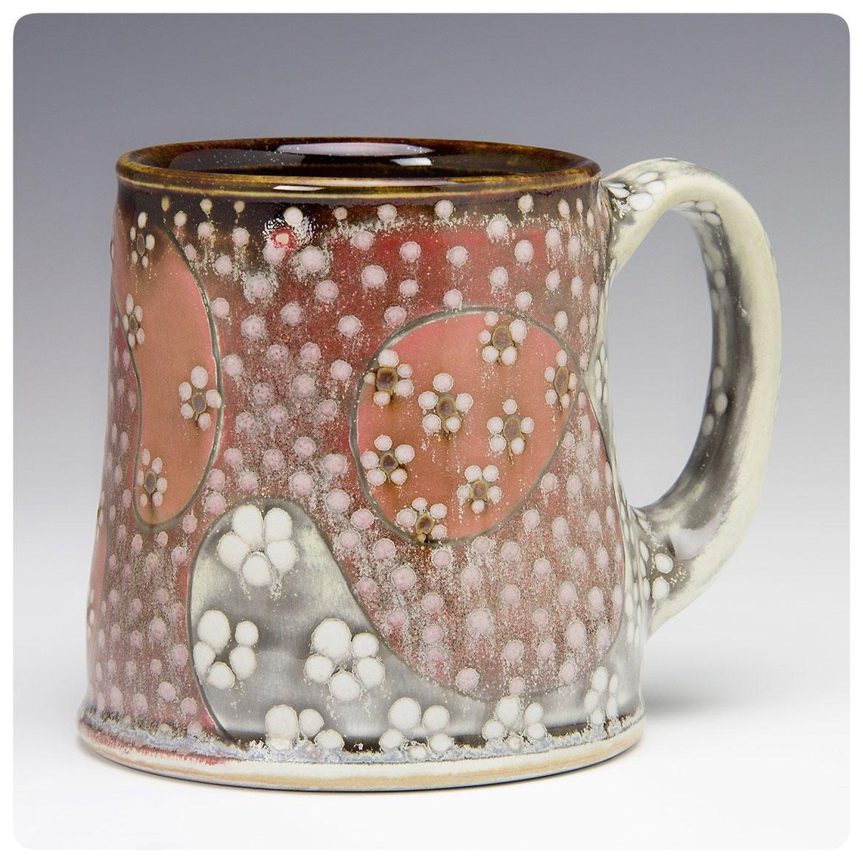 Pattern Medley Art Mug made by Samantha Henneke, Bulldog Pottery, Seagrove, North Carolina