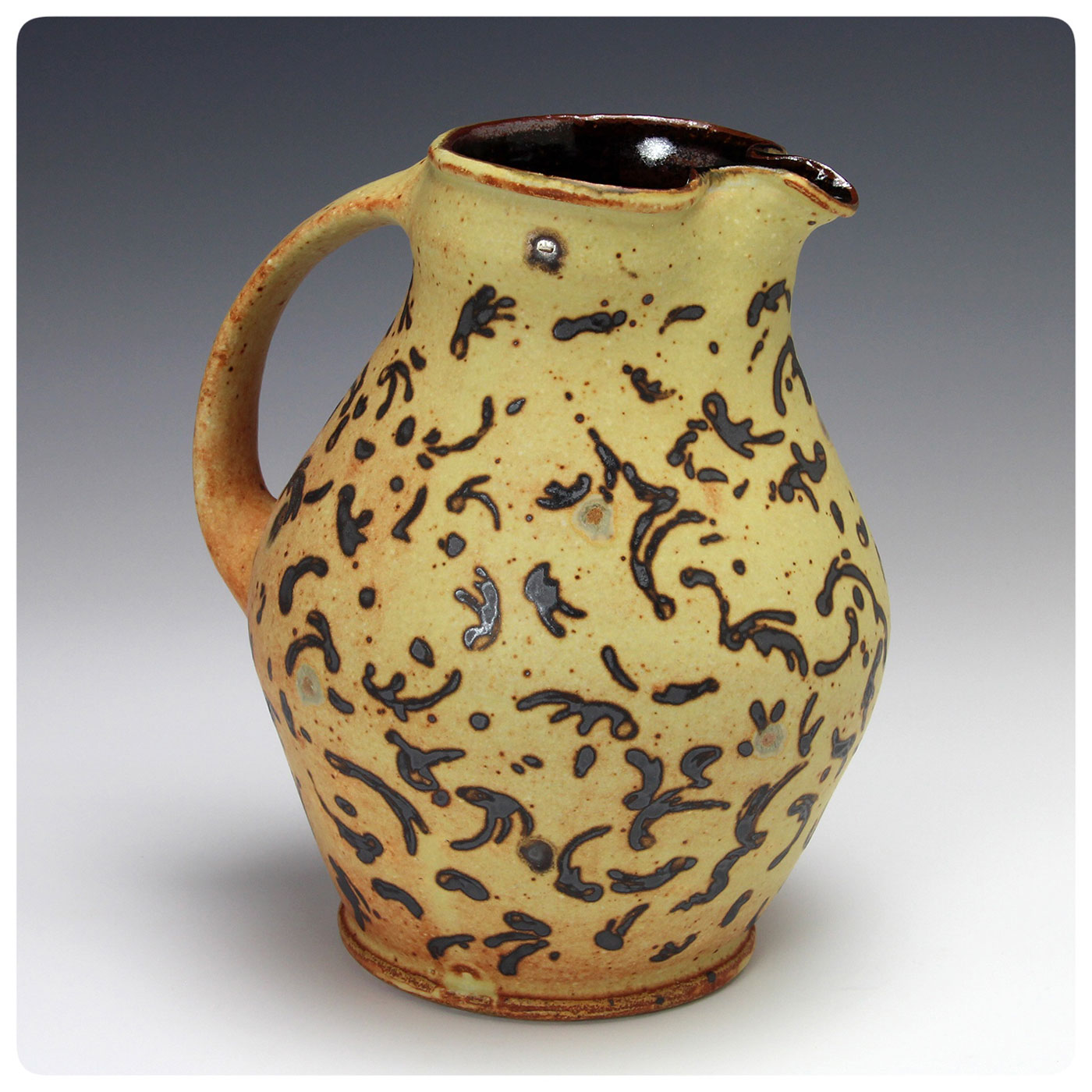 Studio Pottery Pitcher made by Bruce Gholson, Bulldog Pottery, Seagrove, North Carolina