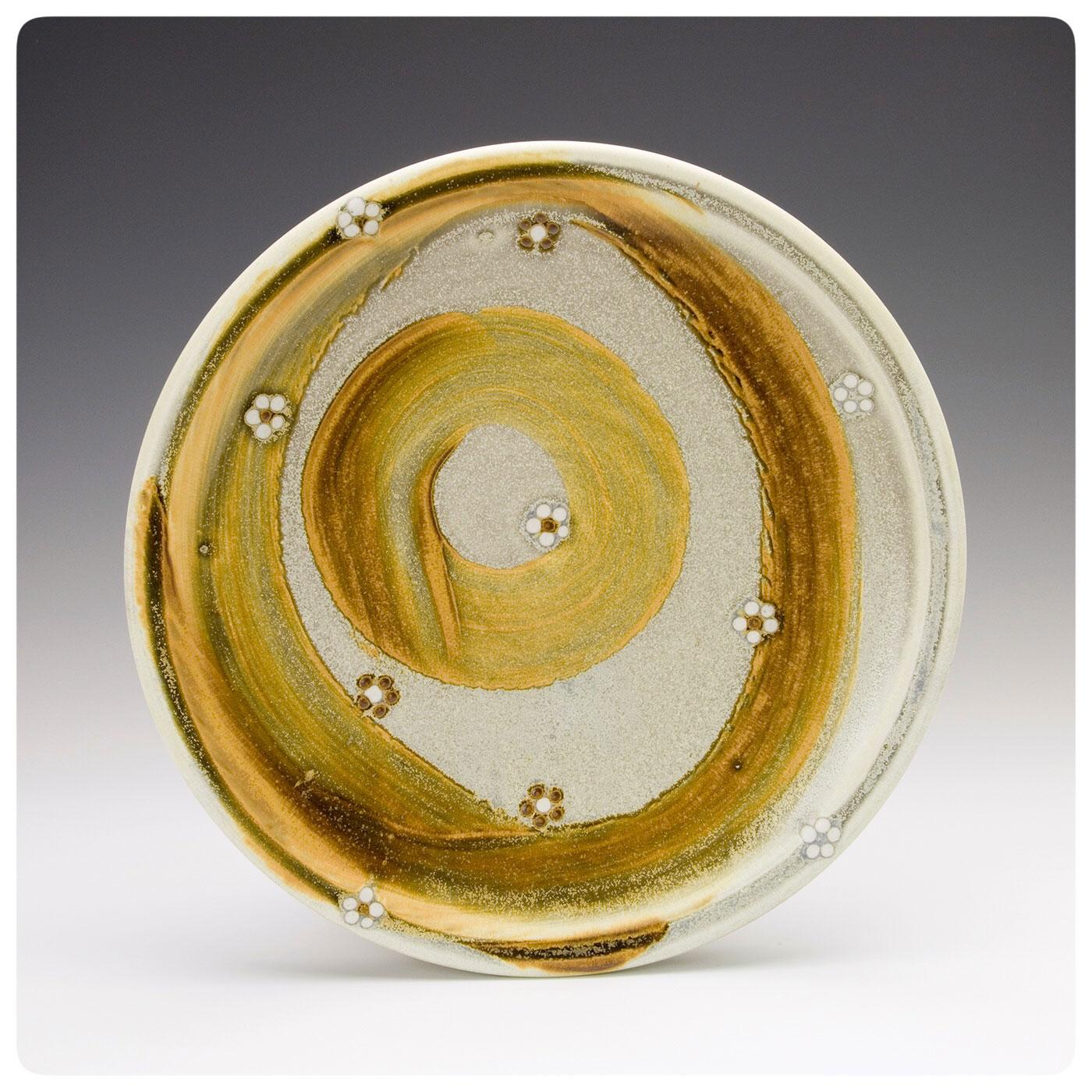 Studio Pottery Plate made by Samantha Henneke, Bulldog Pottery, Seagrove, North Carolina
