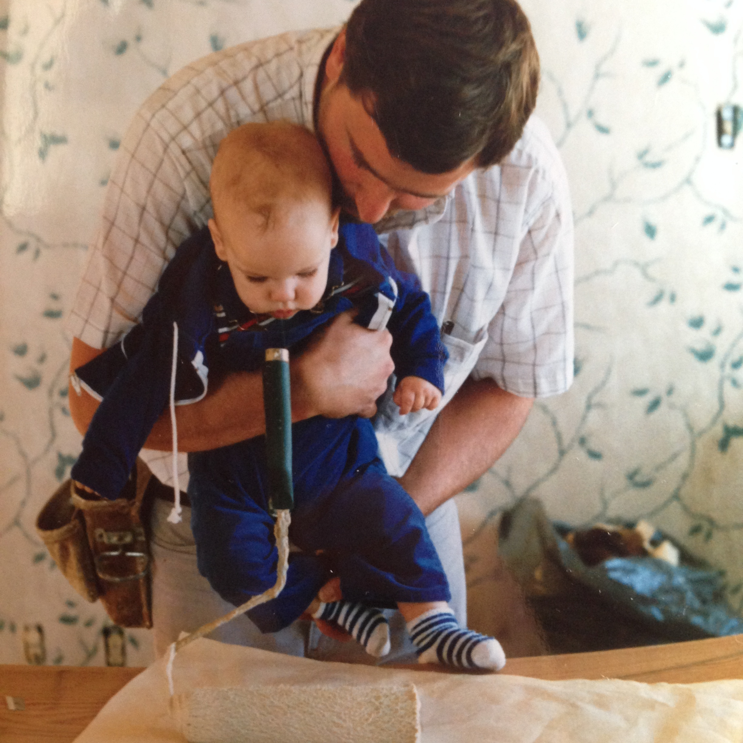 Mark Lyons with son Matt - 1986