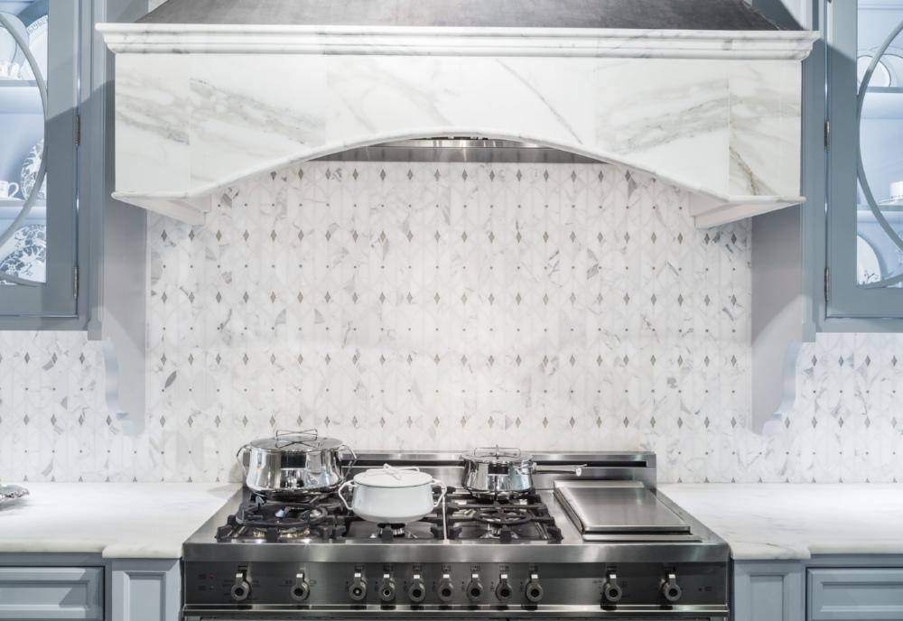 Modern mosaic kitchen