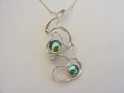DENISE K - Pacific Blue Pearl Pendant