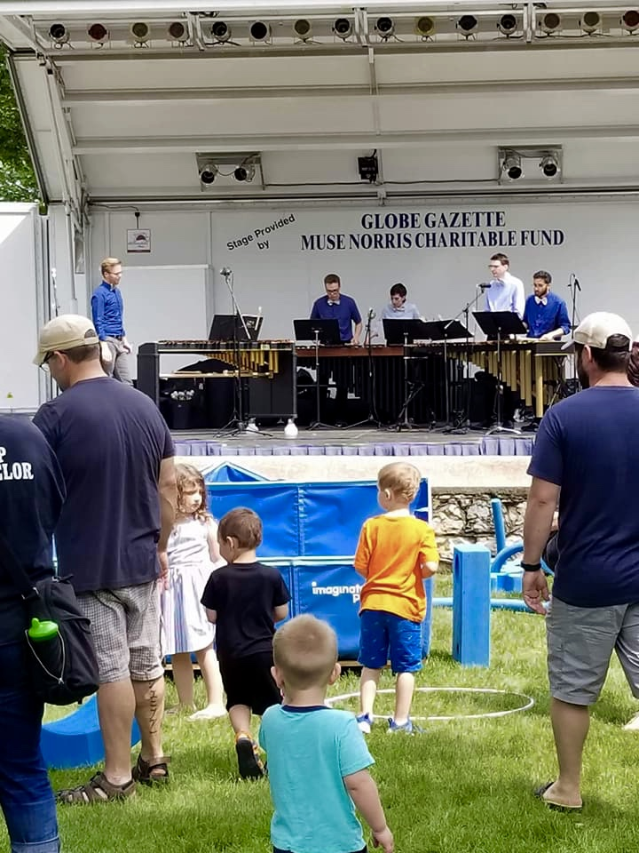 HME performing at the MacNider Arts Festival in Mason City, Iowa (2018).