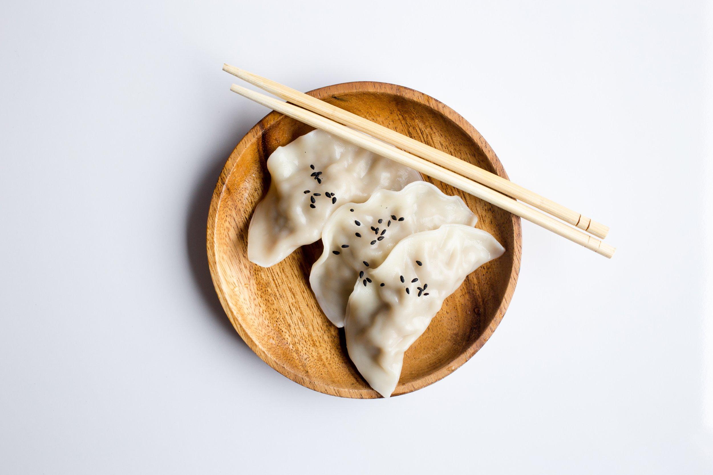 Pork Dumplings with cannabis infused sesame oil - via Monica Lo | @sousweed