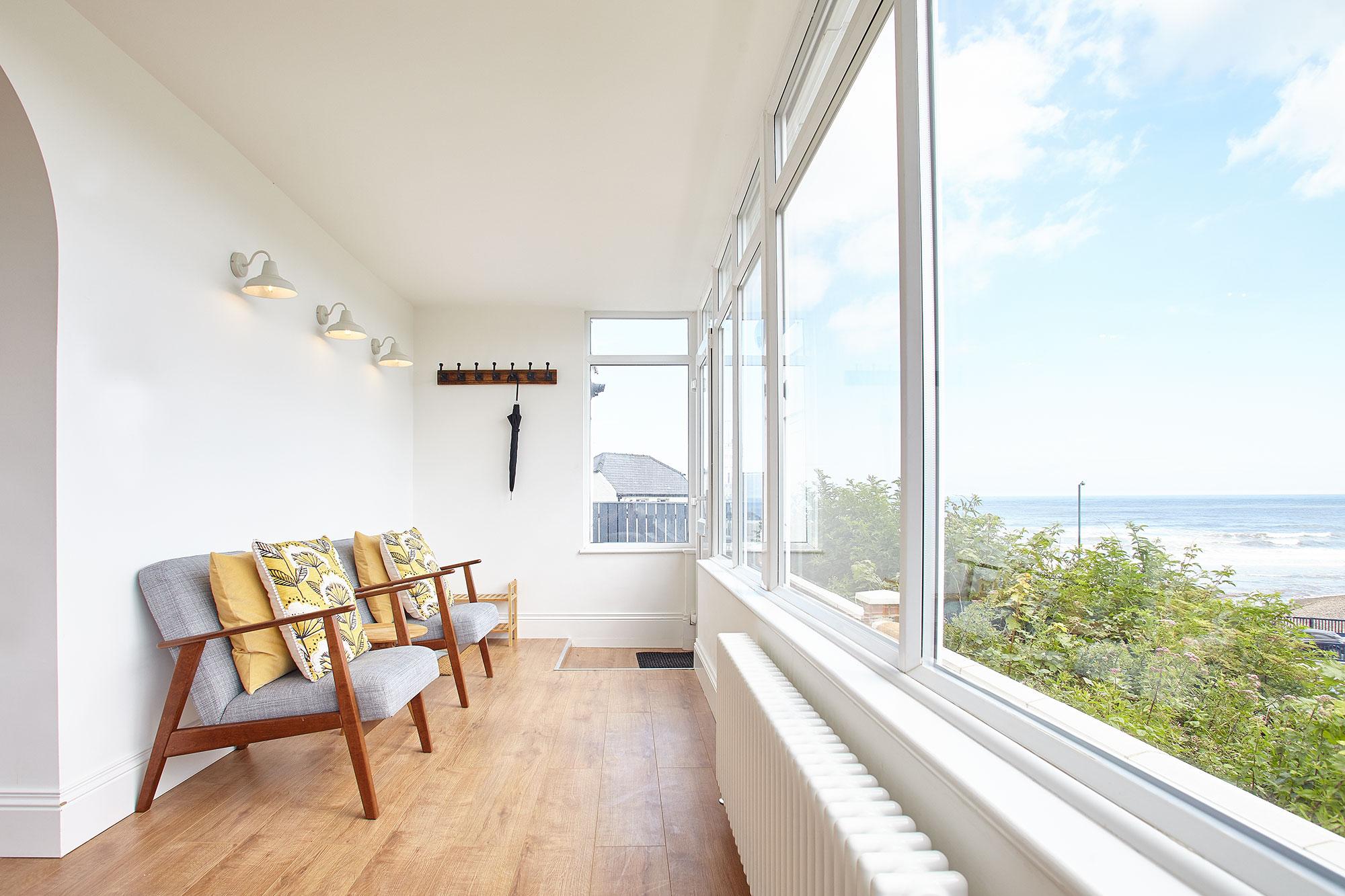 Sun Room overlooking Saltburn Beach