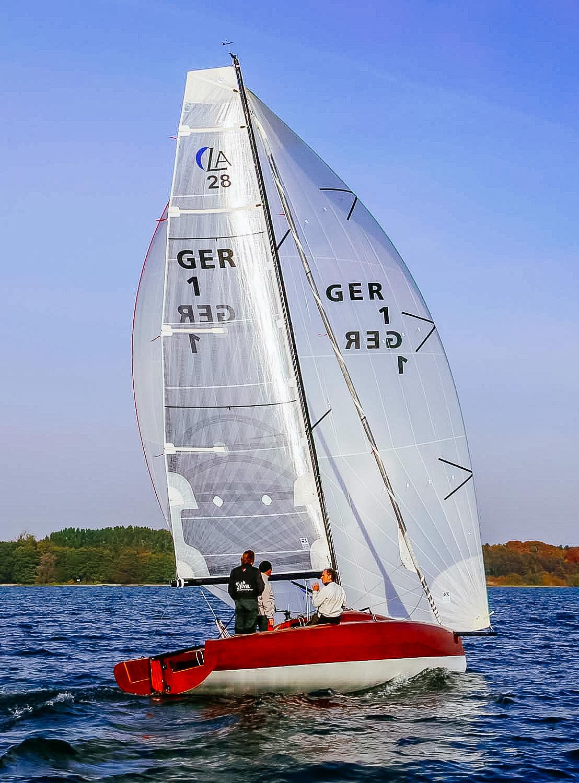 En LA 28 Dagsseglare designad av Berkenmeyer Yacht Design.     Foto Berkenmeyer Yacht design