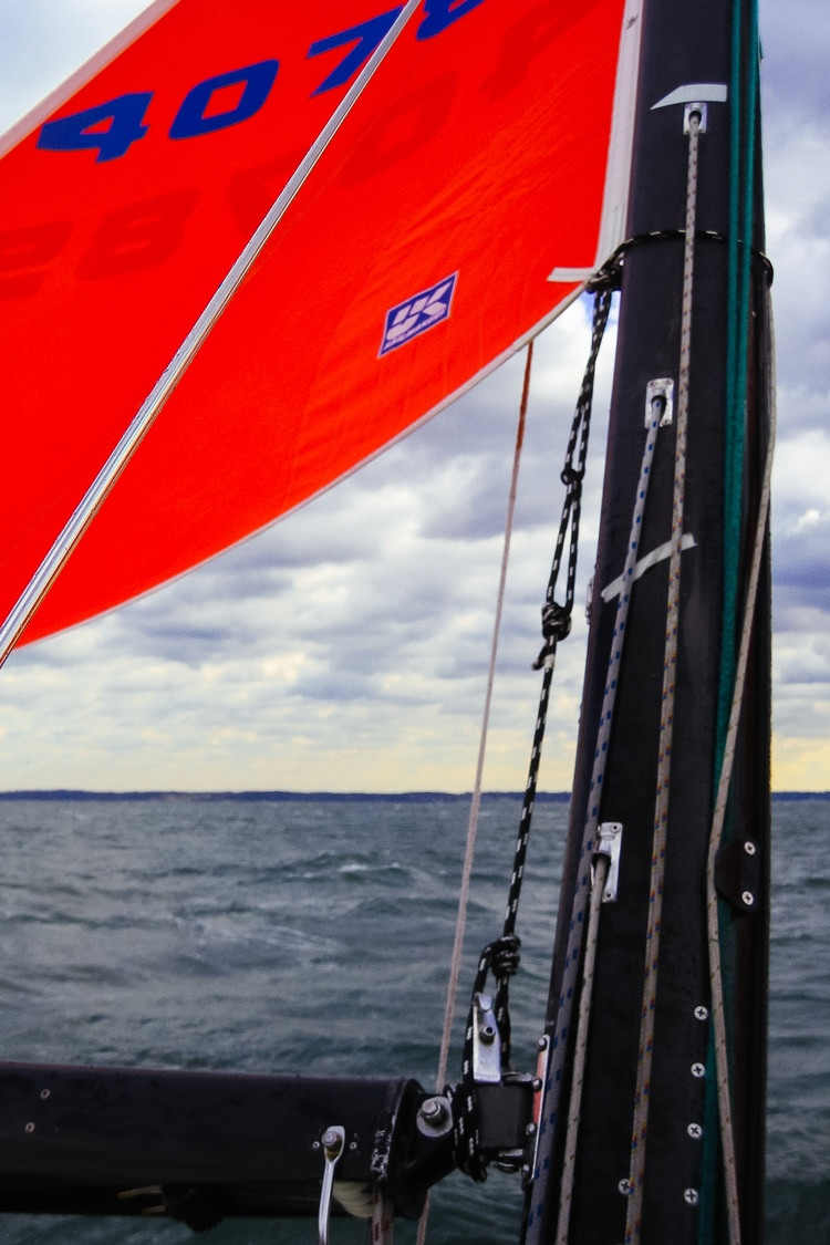 Tack Pennant should be marked so that the pennant can be tied off to the same spot every time the sail is used.