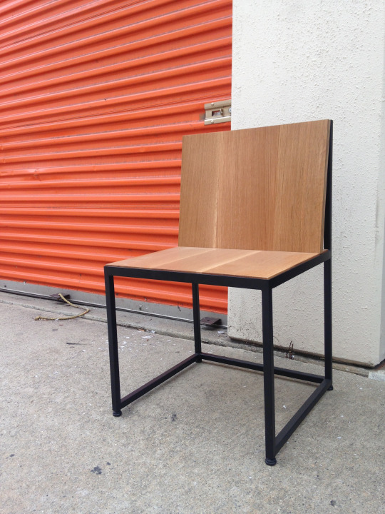 THE FIELD RESEARCH CHAIR - A simple hard working piece in solid oak with black powder coated steel.