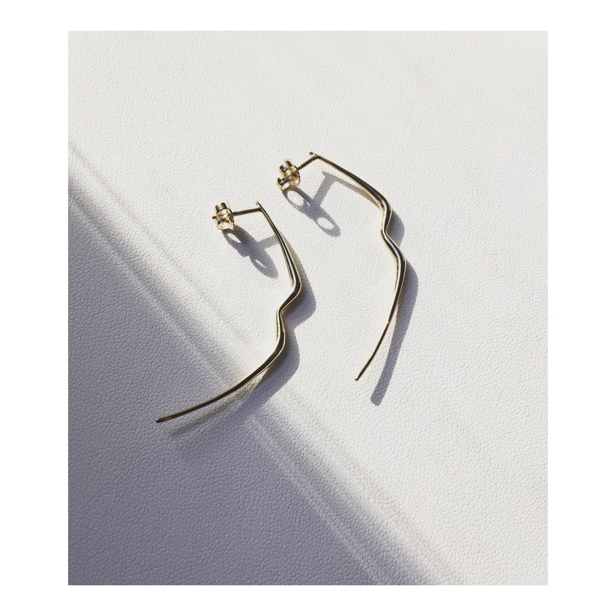 Gold Earrings  Taste  with No pearls option