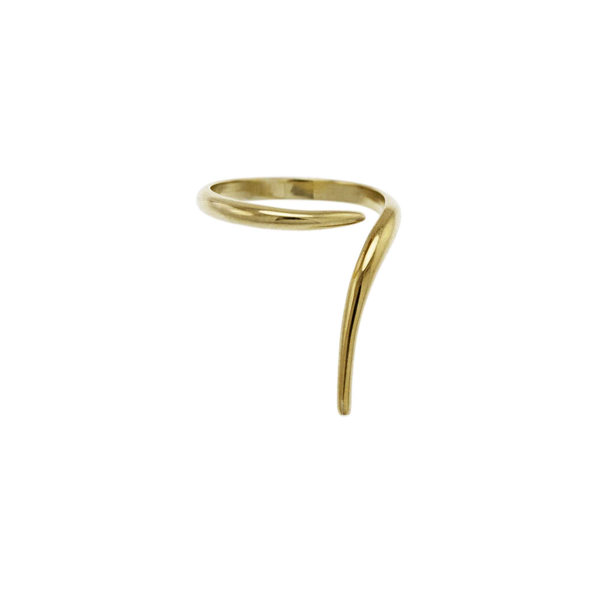 Gold Open Ring French Kiss