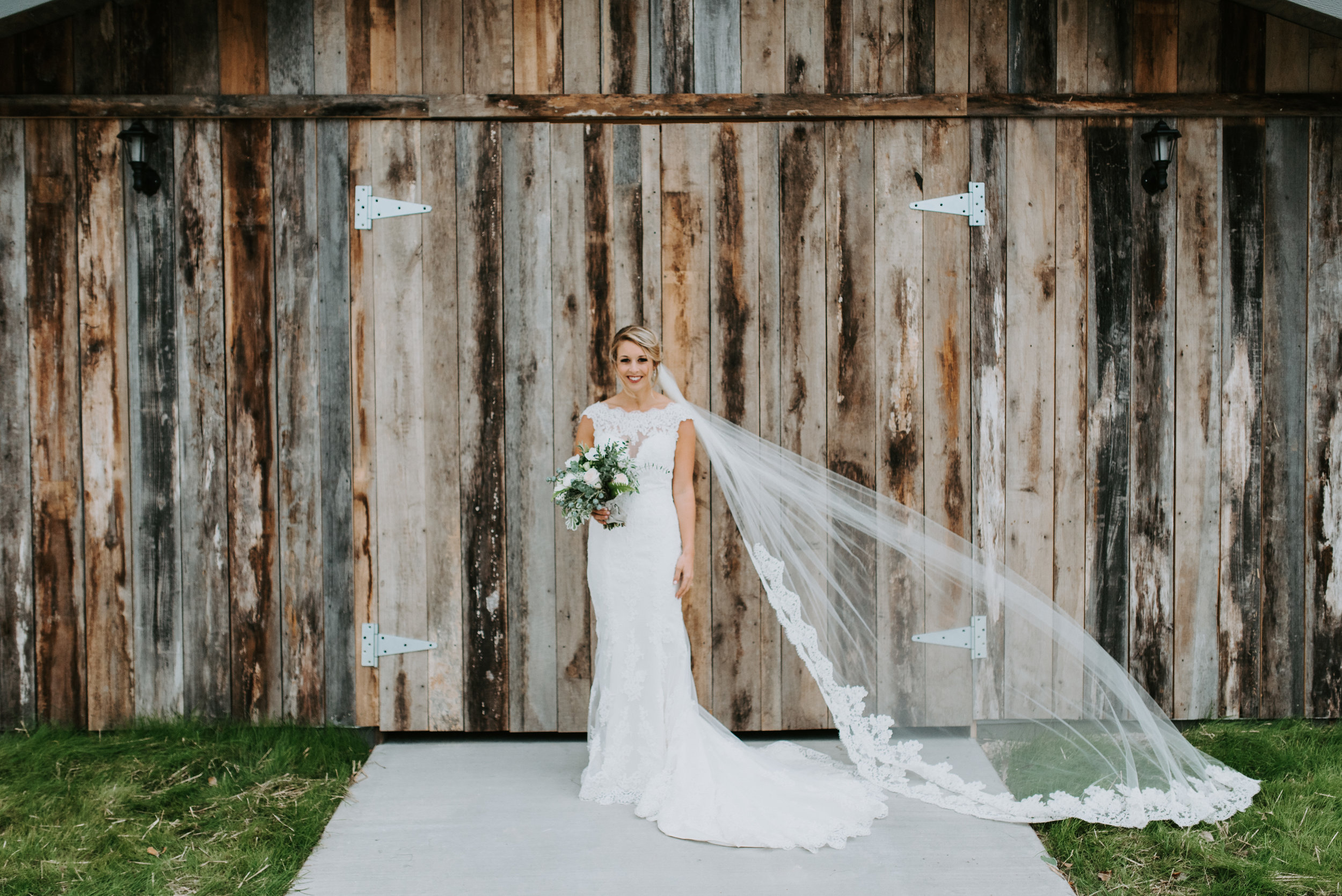 veil blowing in the wind distressed wood barn