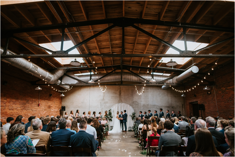 the standard wedding ceremony wide shot