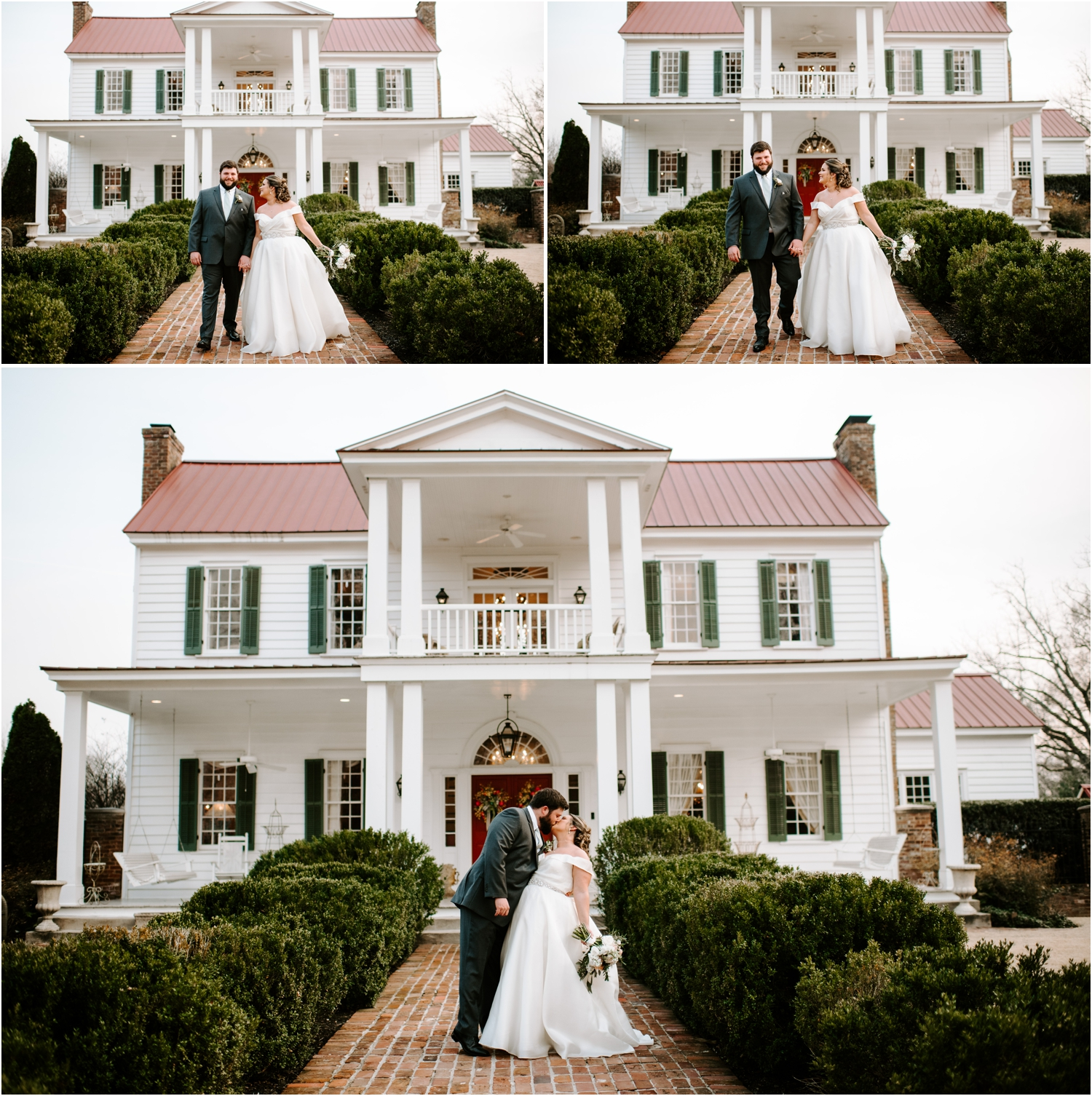 Memphis Tennessee Wedding Heartwood Hall Venue Bride and Groom Portrait Candid