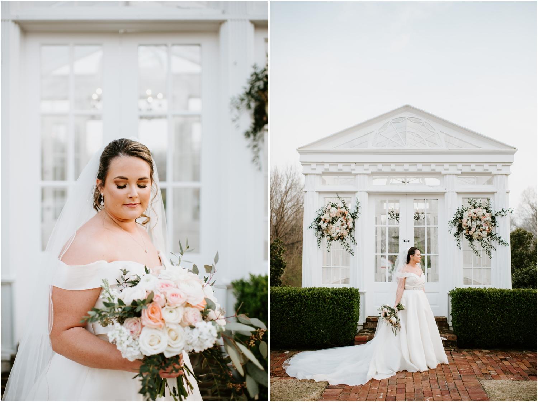 Bridal Portrait Greenhouse Heartwood Hall Wedding Memphis Tennessee
