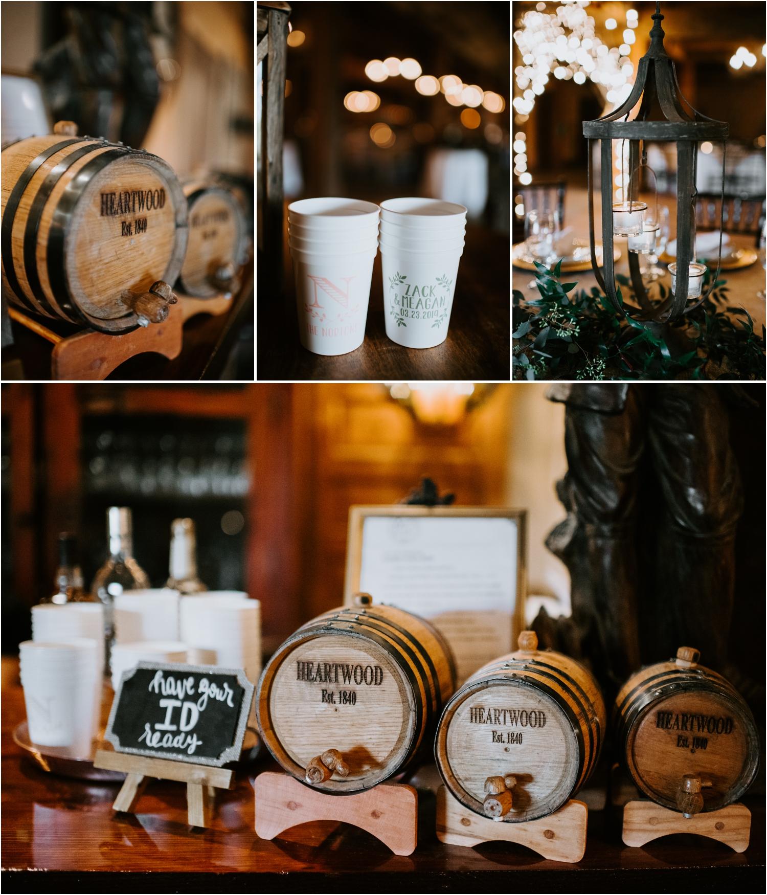 Heartwood Hall Memphis Tennessee Wedding Reception Bar