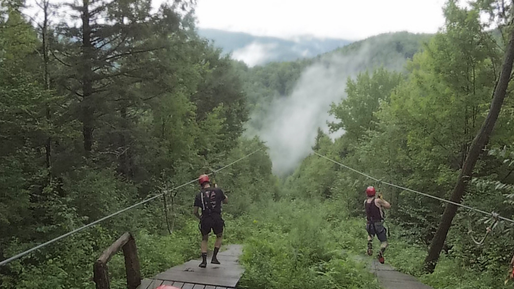 Zipline - This is truly an exhilarating set of ziplines. It's special as it's one of the longest, highest in the East and has two tandem runs.