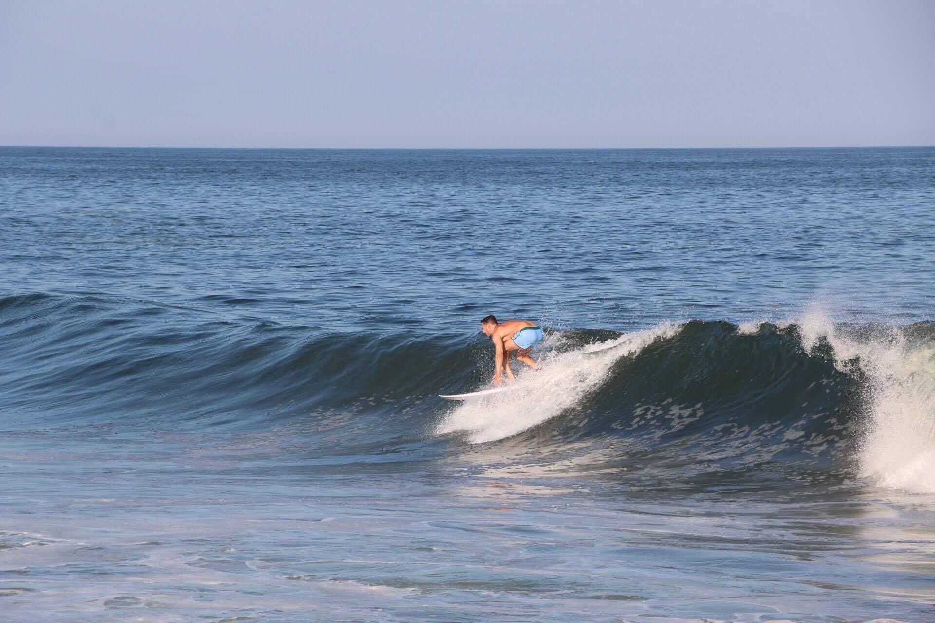 Bill McCabe surfing