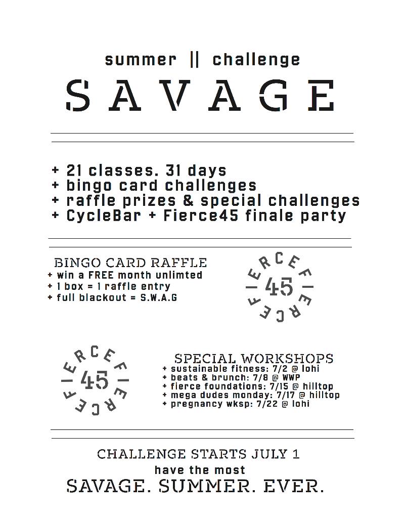 Summer Savage Challenge