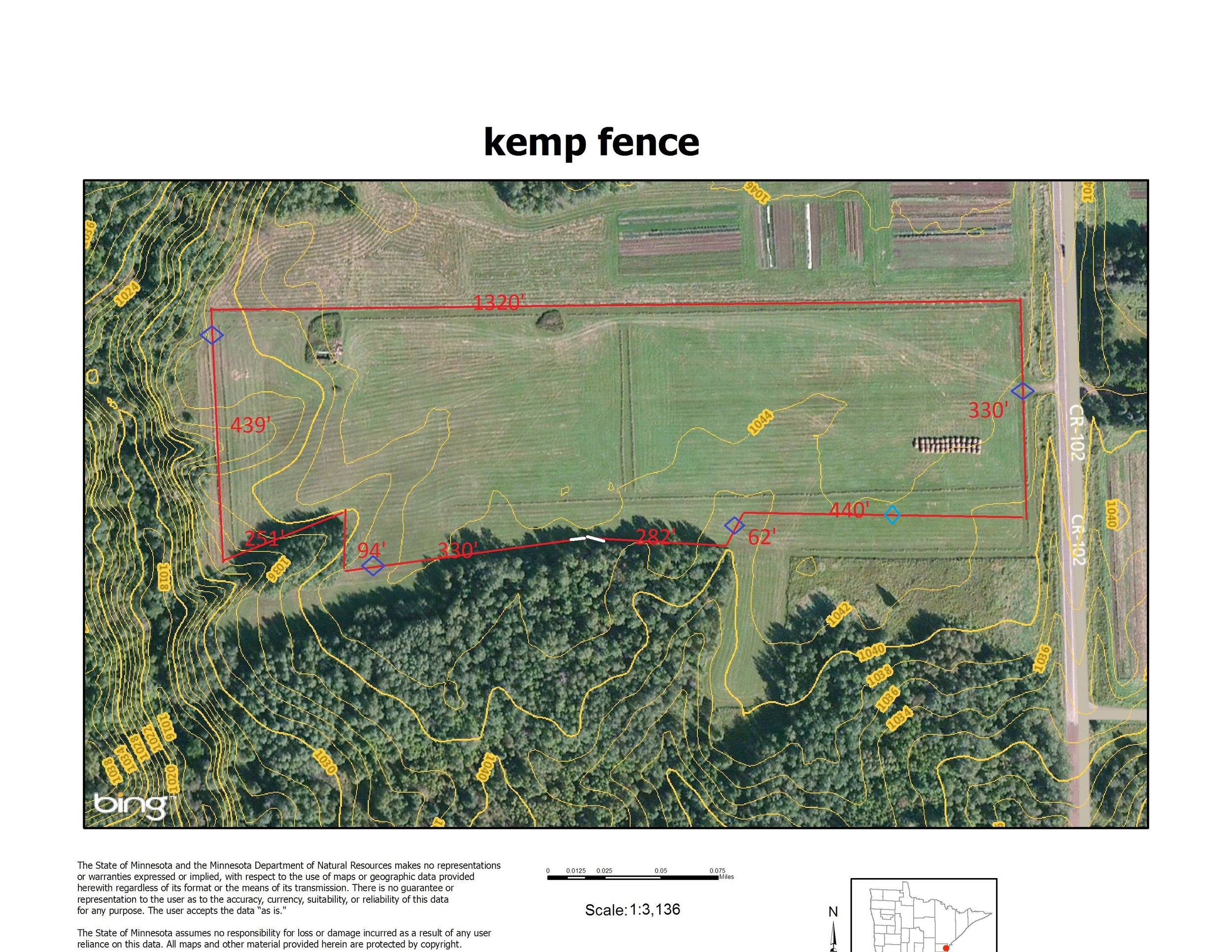 The fence plan