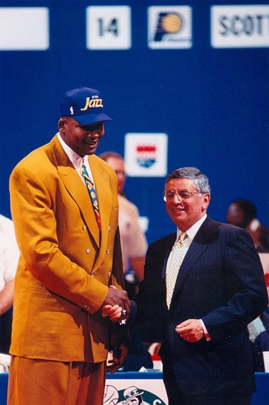 Luther Wright with former NBA commissioner David Stern