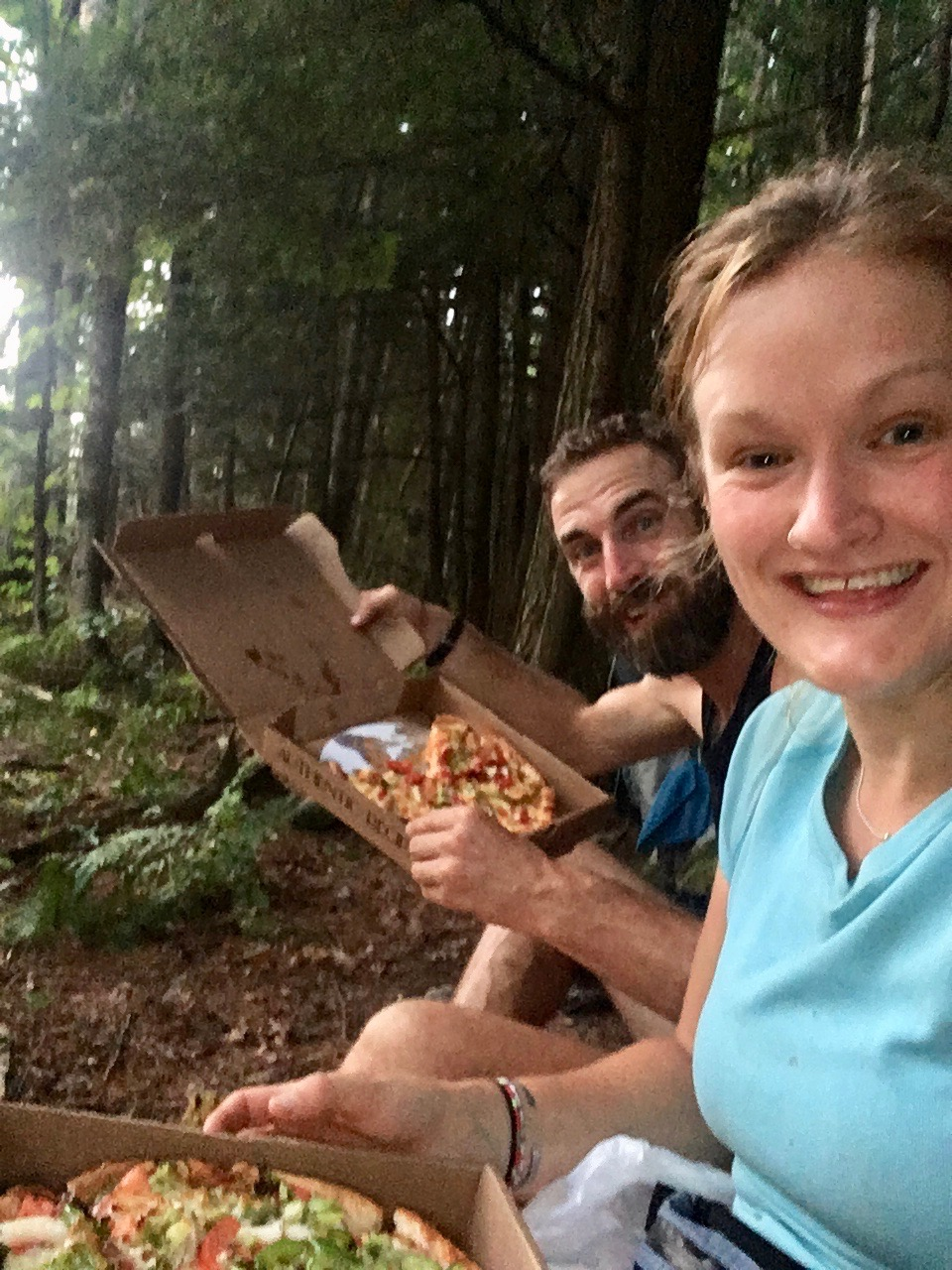Pizza to the trailhead! AT, So. NH