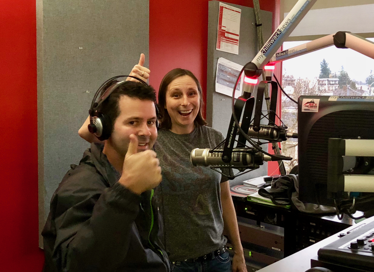 Tim and Sadie in the 89.5 The Drive studio