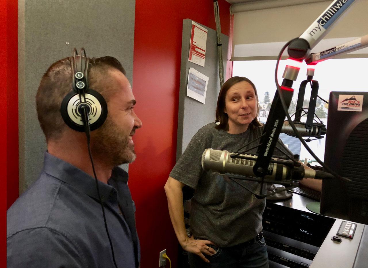 Trevor and Sadie on air