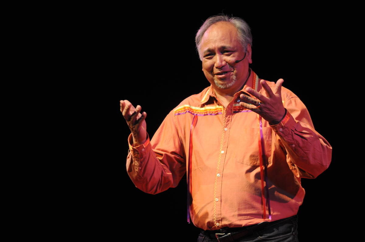 Steven Point's talk at TEDxChilliwack in 2019 was entitled Reconciliation: A Music Project. (Jenna Hauck/ The Progress)