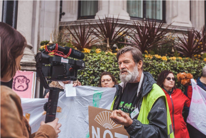 Image 3: Ian Redmond (OBE), speaking about the necessity for big corporations such as Jardines Matheson to stop the Batang Toru dam. [Photo: Tory Tsui, Instagram: @torytsui]