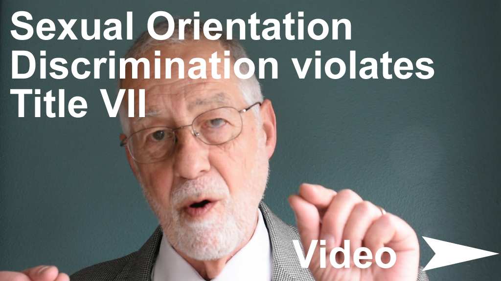 Video : 3:39 minutes. Discussion of  Hively v Ivy Tech Community College  decision on sexual orientation discrimination.