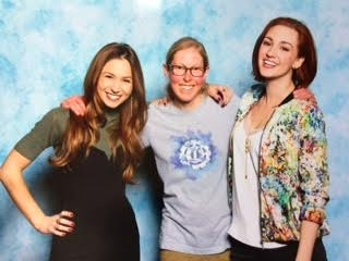 Upon seeing this picture of me and the Wynonna Earp women, my friend told me she'd never seen me smile so big.