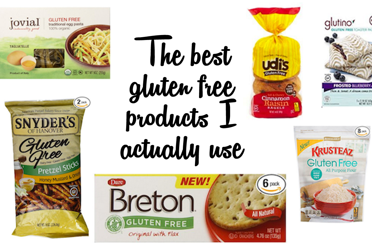 The best gluten free products I actually use - product reviews of gluten free groceries.