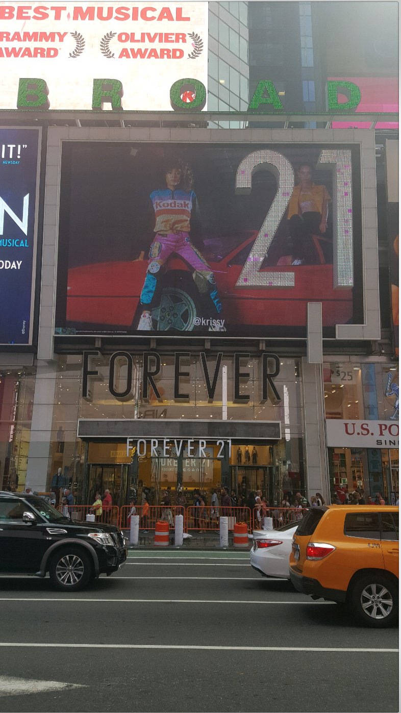 Forever 21 x Kodak Billboard in Times Square
