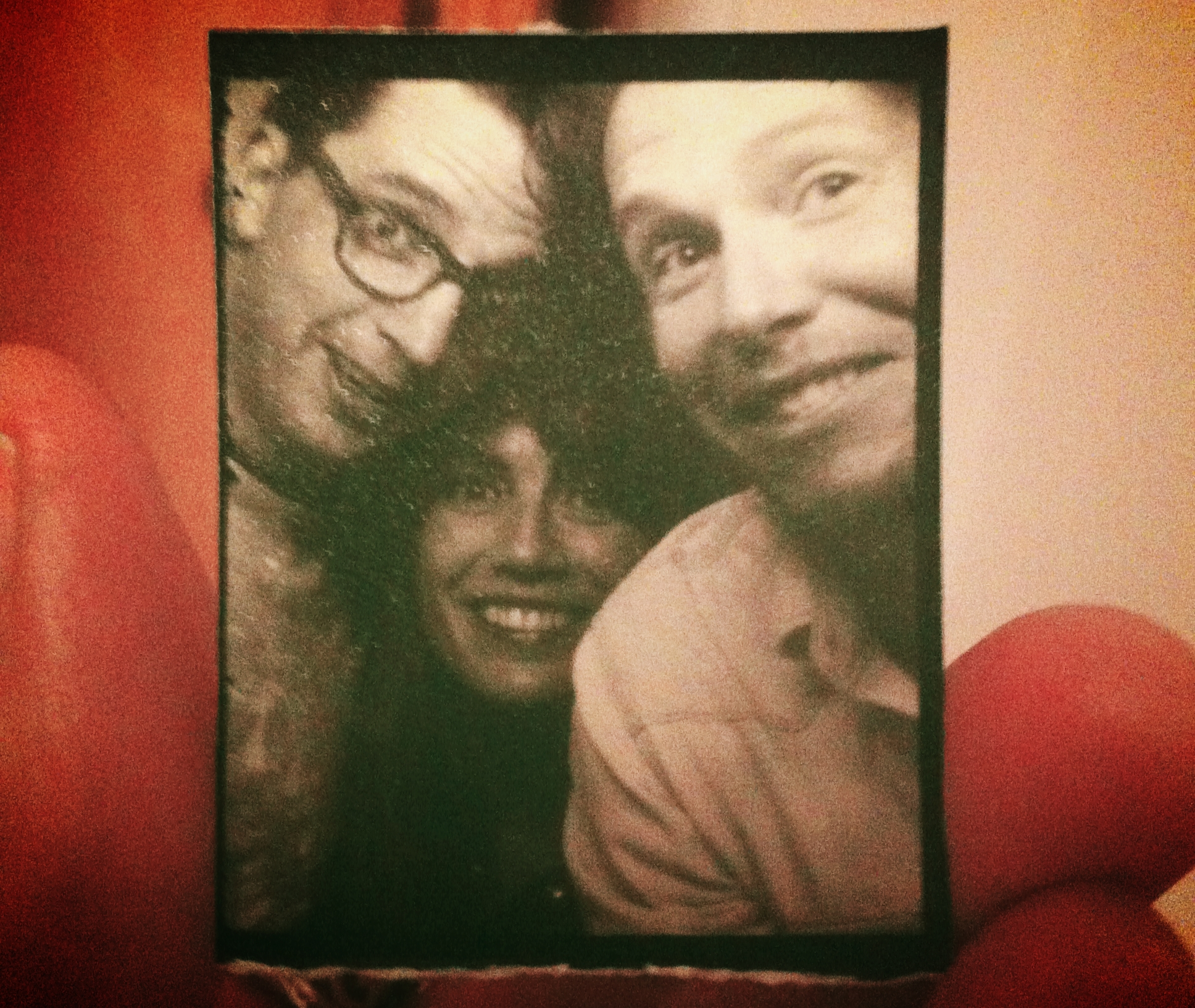 L to R: David, moi, and Caleb Stull jammed into a photo booth in Vancouver.