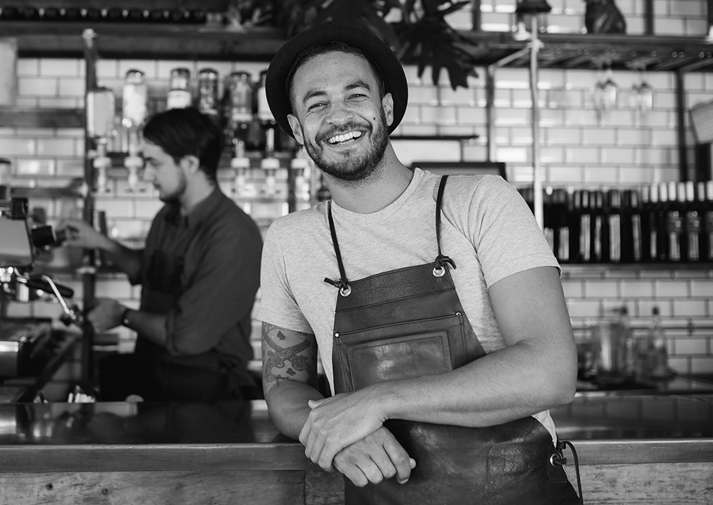 """reggie nelson , age 35, married with 2 young kids  a man in the  service industry ; he is the owner of a local, hipster bar and brewery that hosts events (like trivia night) and also serves food. he'd like to maintain his community-centered social vibes, and also stay """"cool."""" the bar's patrons are mostly in the 21-35 age group—millennials who pretty much use mobile devices on an everyday basis. he often sees his customers using instagram, snapchat, or facebook, so he also has personal geotags on each platform.   location : san diego, ca  income : ~50K  recreational habits : hiking with his buddies,cooking at home for his wife,taking his kids to sporting events, watching funny clips on youtube.   critical tasks  • needs to be easy and simple to use--perhaps with guided templates. • needs to be conscientious of client's budget. • needs to provide thorough details on how to make fun promotions like VIP passes, food/drink specials, comp admission coupons for event nights."""