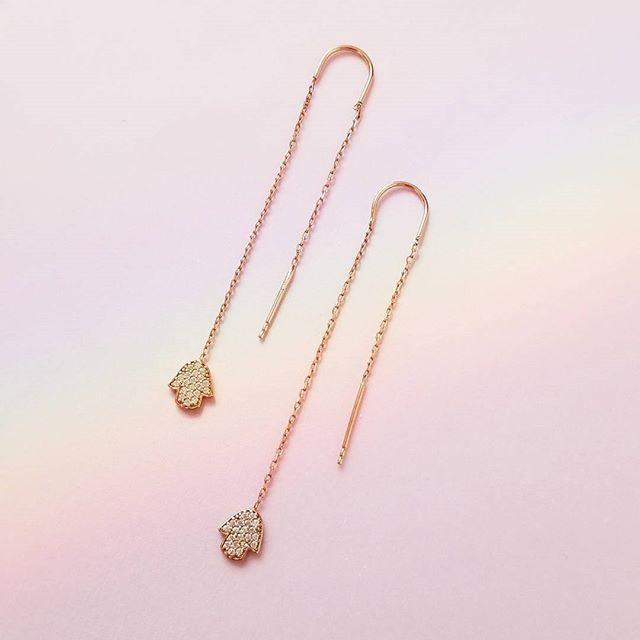 #hamsa earrings. Available on our website Unicornjewels.com . . .  #shopping #shop #unicornjewels #unicorn #unicornlife #shoppingtime #shoppingaddict #shoppingtherapy #instashopping #happy #tweegram  #igshopping #igers #beaunicorn #jewelry #sterlingsilver #gold #pastel #imaunicorn #designerjewelry #musthave #pink #love