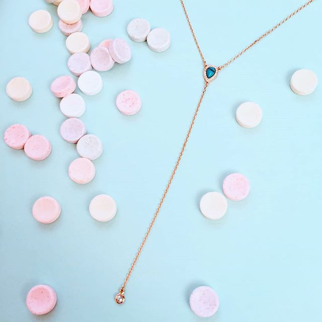 This necklace is strictly for Unicorns! 🦄💙 18k gold plated Sterling Silver with a turquoise Stone and a tiny crystal at the end.  Adjustable and perfect for summer. 🦄🦄🦄 Limited quantity available. Order on our website. . . . #shopthislook #smallbizlove #unicornjewels #unicorn #unicornlife #shoppingtime #shoppingaddict #shoppingtherapy #instashopping #happyweekend #igshopping #beaunicorn #jewelry #sterlingsilver #goldnecklace #imaunicorn #designerjewelry #pastelbaby #unicorn🦄