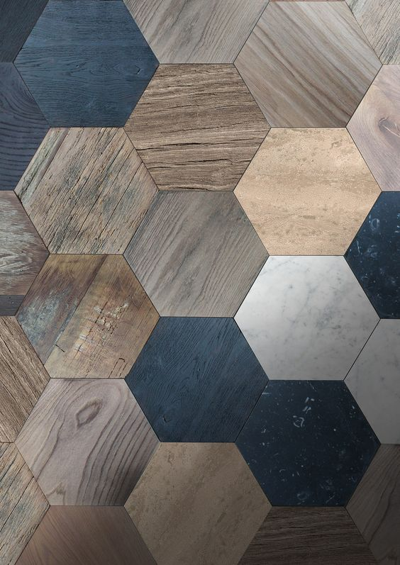 Hexagonal parquet works in both modern and traditional homes!