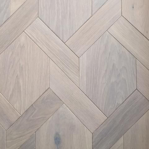 Mansion weave parquet is great for difficult shaped rooms!