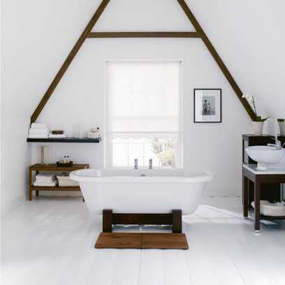 A white floor just looks super simple, modern, clean and effortlessly stylish.
