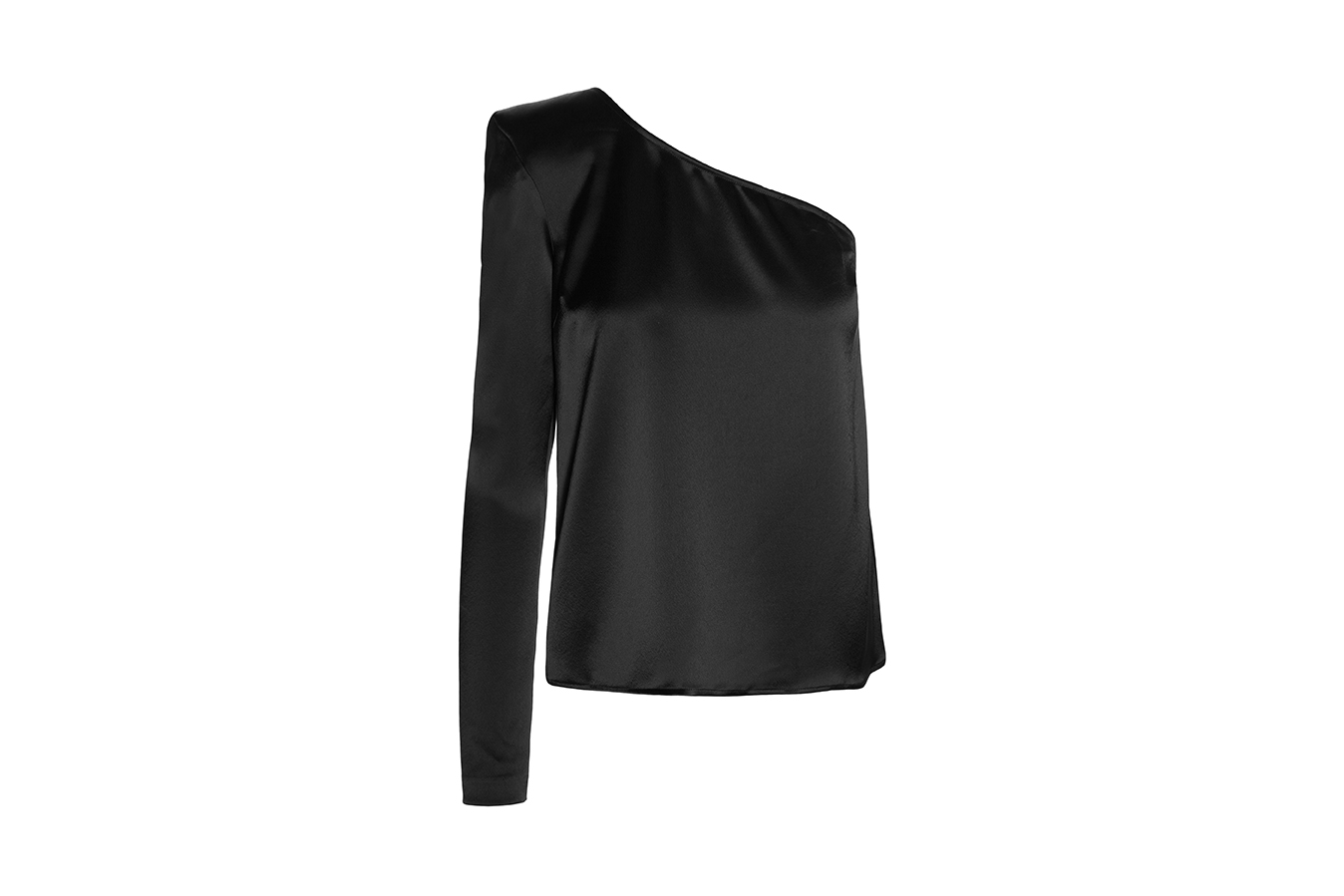 Camisa asimétrica negra Anonymous Closet