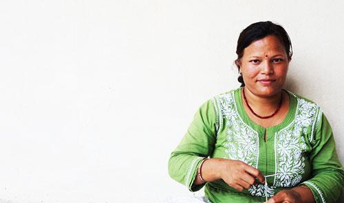 Dhana knitting at ACP