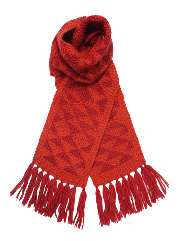 Here Today Here Tomorrow. Ruby Texture Scarf. Autumn Winter 2016. Handmade and Fair Trade. Photo by Agnes Lloyd-Platt.