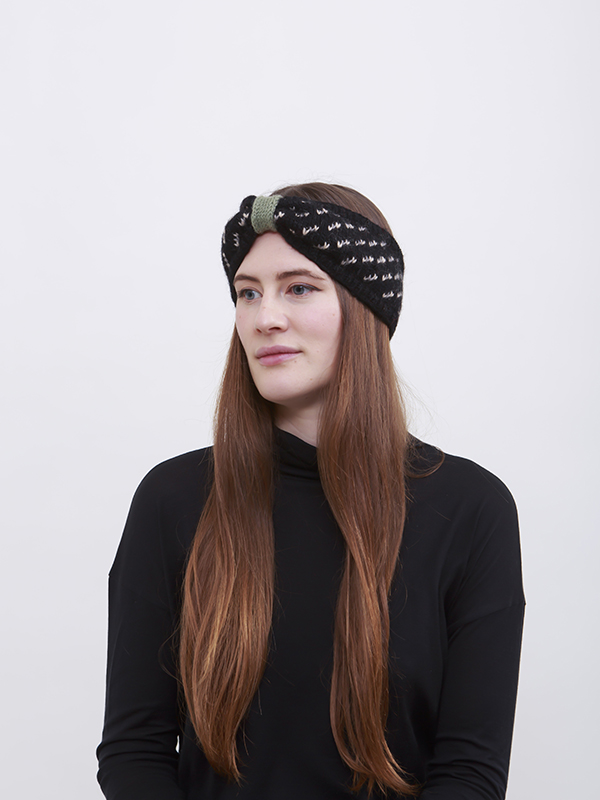 Here Today Here Tomorrow. Knot Headband. Autumn Winter 2016. Handmade and Fair Trade. Photo by Agnes Lloyd-Platt.