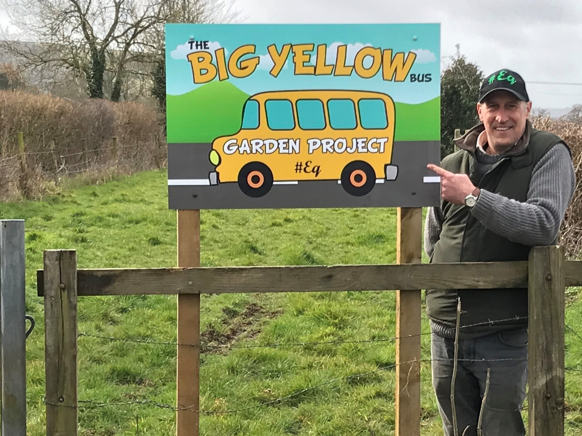 Paul Williams, eq director, pointing the way forward for our Garden Project.