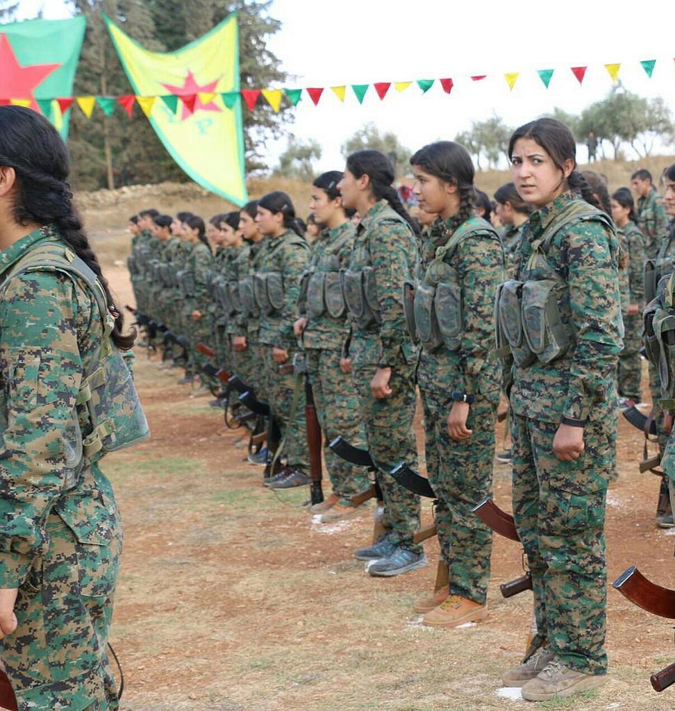 Kurdish fighters in Syria